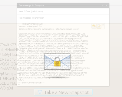 Receiving an encrypted message with Mailvelope